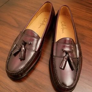 Men's Cole Haan Pinch Tassel Loafer Mahogany NWOT